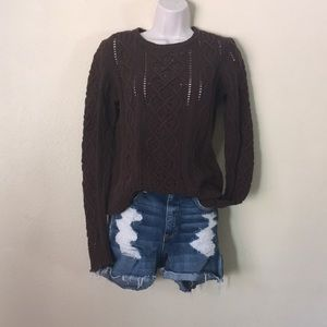 MICHAEL Michael Kors Sweaters - Michael Kors Chocolate Brown Cable Knit Sweater M